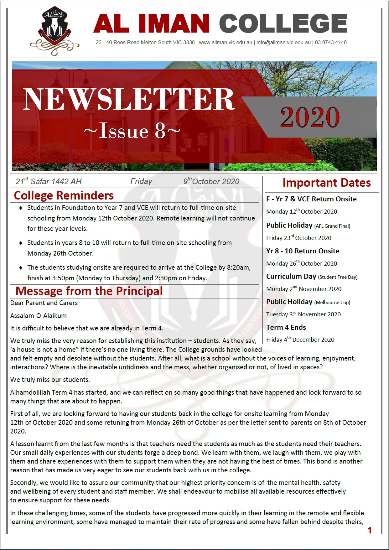 AIC Newsletter Issue 8